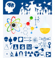 science design elements vector image vector image