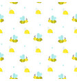 seamless pattern with cute childish bees and bee vector image vector image