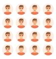 Set of boy emotions icons vector image