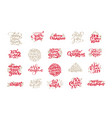 set of merry christmas vintage calligraphy vector image