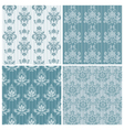 set of ornamental damask vector image vector image