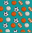 set of sport games background vector image vector image