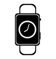 smart watch wearable with time vector image