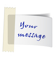 taped white label vector image vector image