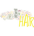 the biology behind hair growth text background vector image vector image