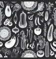 vegetables seamless pattern hand drawn vector image