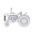 vintage agricultural tractor isolated on white vector image