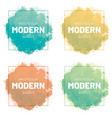 watercolor set banner modern art design vector image vector image