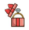 wedding diamond ring vector image vector image