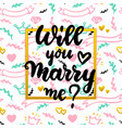 will you marry me concept vector image vector image