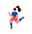 working out female runner cartoon character vector image vector image