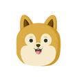 cute golden hair dog animal head vector image