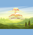 explosion of nuclear bomb over city vector image