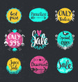 handwritten calligraphy sale set special vector image