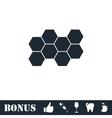 Honeycomb icon flat vector image