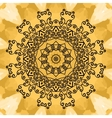 Mandala Print on seamless watercolor texture vector image