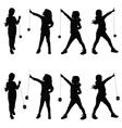 children with yo yo vector image