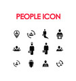 set people design icon vector image
