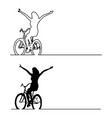 silhouette woman release the hand vector image