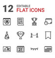 12 event icons vector image vector image