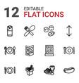 12 menu icons vector image vector image