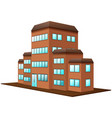 3d design for brown building vector image vector image