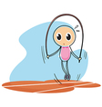 A sketch of a child playing with the jumping rope vector image vector image