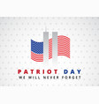 abstract patriot day background vector image