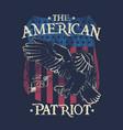 american patriot - eagle - badge vector image
