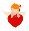 angel of love vector image vector image