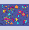 back to the 90s set of stickers pins patches in vector image vector image