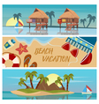 Beach Vacation Horizontal Banners Set