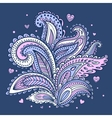 Beautiful Indian floral ornament vector image vector image