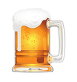 beer with bladder in glass mug on white vector image vector image
