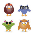 bird cartoon set vector image