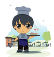 child chef vector image vector image
