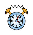 clock alarm watch time sketch vector image vector image