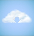 Cloud computing icon with arrow download vector image