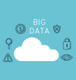 cloud computing with big data icons vector image vector image
