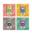collection of flat shading style icons dealer vector image vector image
