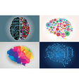 collections four different human brains left vector image vector image