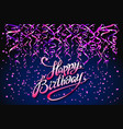 concept party on dark blue background top view vector image vector image