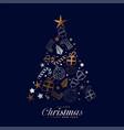 creative merry christmas festival card vector image
