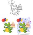 crocodile cartoon design vector image vector image