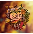 decorative autumn sale blurred background vector image vector image