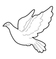 Dove icon outline style vector image