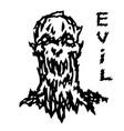 evil demon head vector image vector image