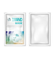 facial sheet mask sachet package isolated on white vector image