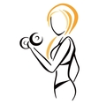 Fitness symbol vector image vector image