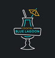 for bar menu alcoholic cocktail blue vector image vector image